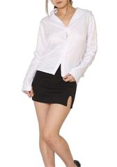 chu-U-chu Costume Collection 誘惑ミニスカスーツ(SS-002)【女教師・OL・秘書】/ホワイト×ブラック