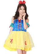 Costume Collection パーティーナイトドレス(P-007)スノーホワイト/ブルー×イエロー