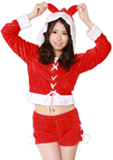 Costume Collection ヴァージンサンタガール(V-003)フード付き/レッド