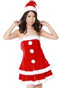 Costume Collection ヴァージンサンタガール(V-004)ワンピース/レッド