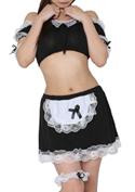 ChuChu Costume Collection スイートメイドガール(S-007)黒/ブラック