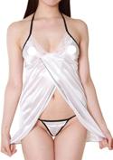Lingerie Collection ラブリーベビードール(L-002)ホワイト/ホワイト