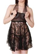 Lingerie Collection ショートドレス(S-001)ホルタ—ネック/