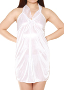 Lingerie Collection ショートドレス(S-006)ホワイト/ホワイト