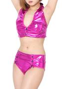 Chu-U-Chu Lingerie Collection Club*Gir★フェイクレザーセットアップ(CG002)/ピンク