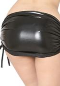 Chu-U-Chu Lingerie Collection メタリック★タイトミニスカート-38cm丈-/ブラック