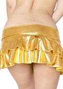 Chu-U-Chu Lingerie Collection メタリック★フレアミニスカート-22cm丈-/ゴールド