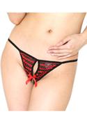 chu-U-chu Shorts Collection オープンクロッチパンティ(O-013)RED&BLACK/レッド&ブラック