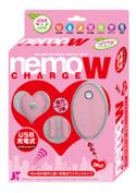 ~Love&Leaf~ nemo W ネオ充電式リモコンツインローター ピンク/ピンク